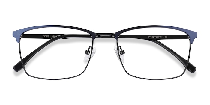 Blue Signal -  Metal Eyeglasses