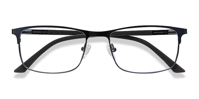 Navy WIT -  Metal Eyeglasses