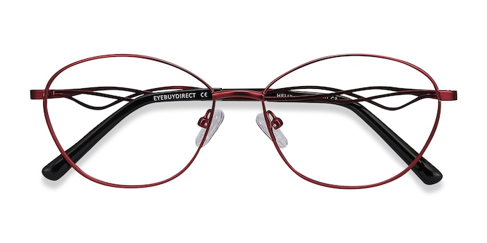 Red Helix -  Lightweight Metal Eyeglasses