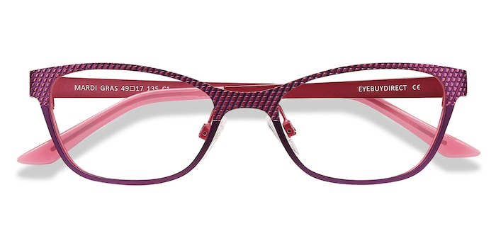 Pink MARDI GRAS -  Colorful Metal Eyeglasses