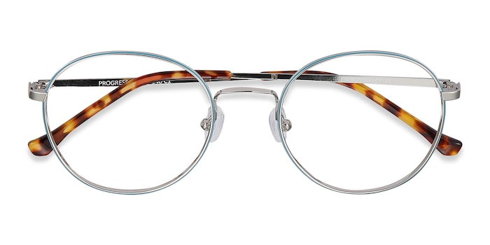 Blue Silver Progress -  Metal Eyeglasses