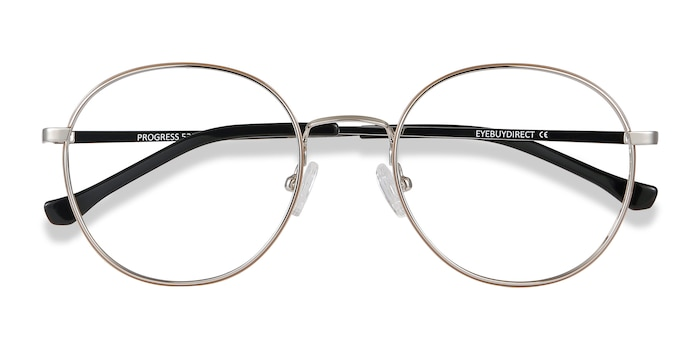 Brown Silver Progress -  Vintage Metal Eyeglasses