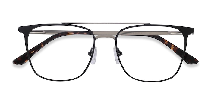 Black Contact -  Metal Eyeglasses