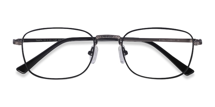 Black Tampa -  Metal Eyeglasses