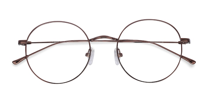 Coffee Dapper -  Vintage Metal Eyeglasses