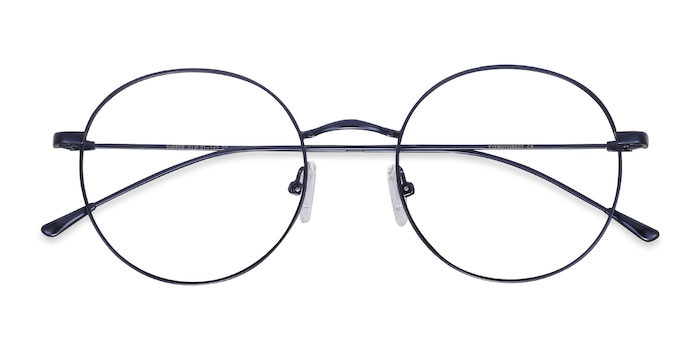 Navy Dapper -  Metal Eyeglasses
