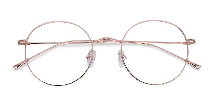 Rose Gold Dapper -  Lightweight Metal Eyeglasses