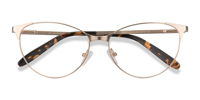 Rose Gold Sisi -  Vintage Metal Eyeglasses