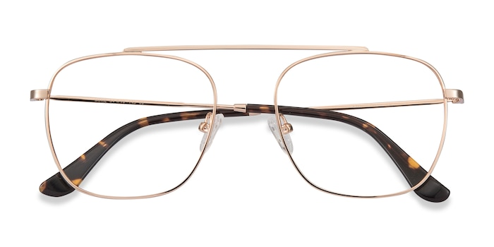 Rose Gold Moxie -  Fashion Metal Eyeglasses