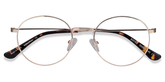 Golden Bistro -  Vintage Metal Eyeglasses