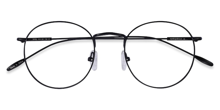 Black Novel -  Vintage Metal Eyeglasses