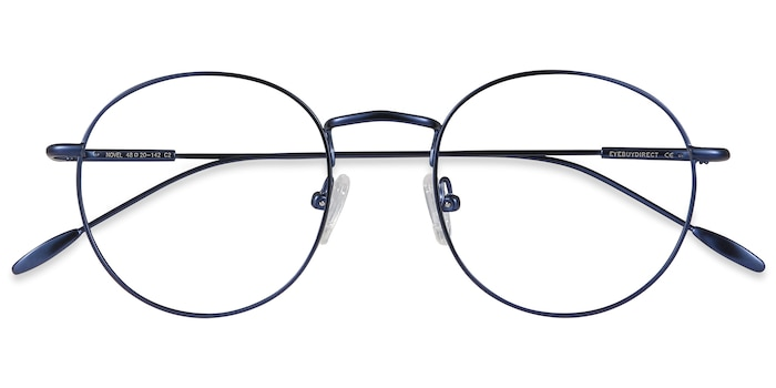 Navy Novel -  Vintage Metal Eyeglasses