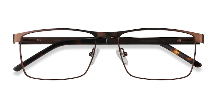 Brown Danno -  Metal Eyeglasses