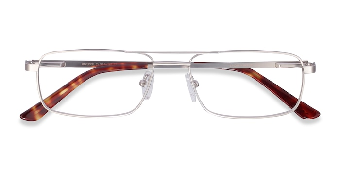 Silver Maverick -  Lightweight Metal Eyeglasses