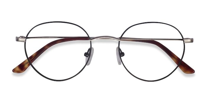 Black Retell -  Metal Eyeglasses