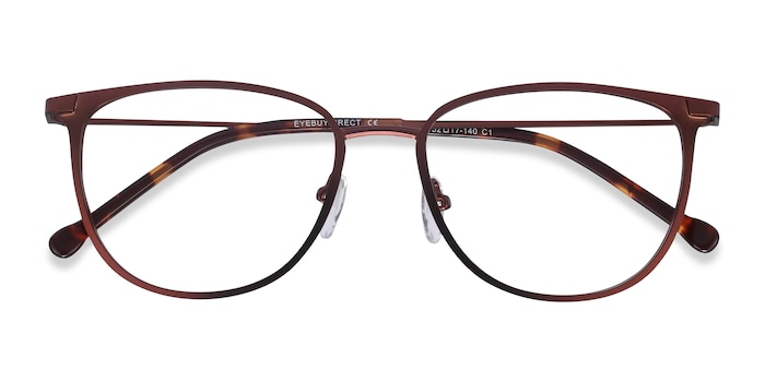 Red Shimmer -  Metal Eyeglasses