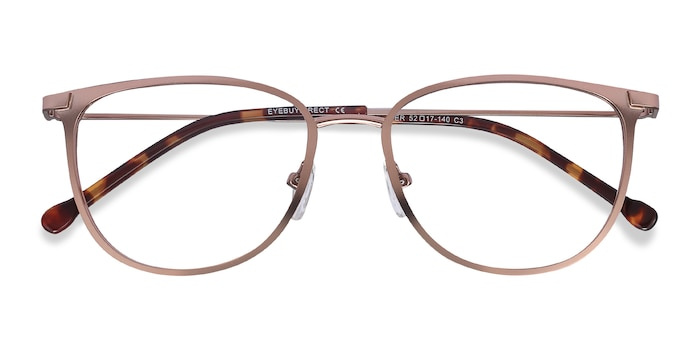 Rose Gold Shimmer -  Metal Eyeglasses