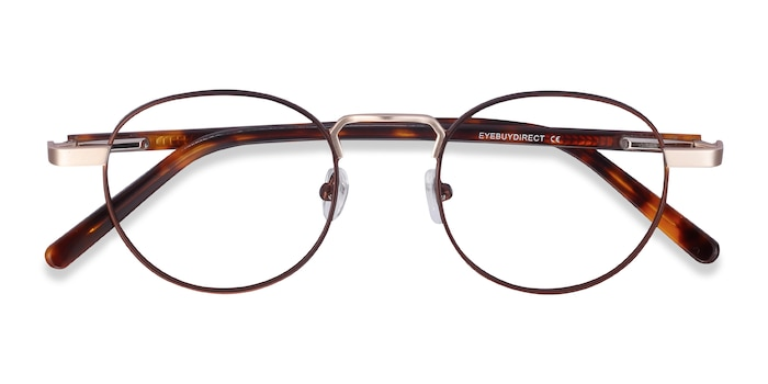 Brown Orbit -  Acetate, Metal Eyeglasses