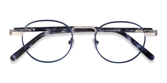 Blue Orbit -  Metal Eyeglasses