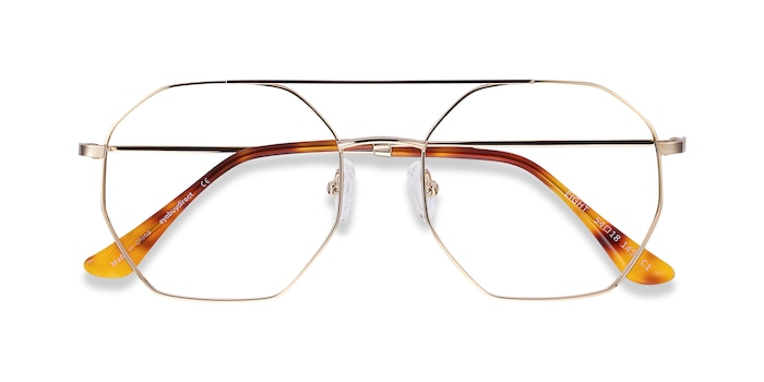 Golden Eight -  Vintage Metal Eyeglasses