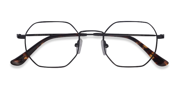 Black Soar -  Vintage Metal Eyeglasses