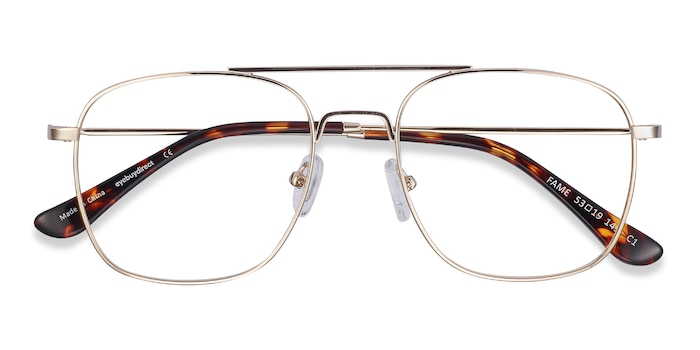 Golden Fame -  Vintage Metal Eyeglasses