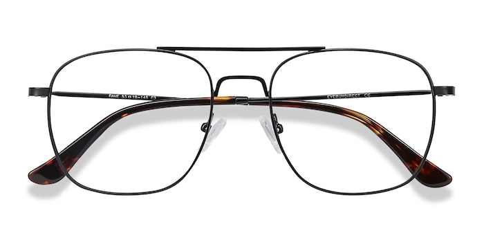 Black Fame -  Vintage Metal Eyeglasses
