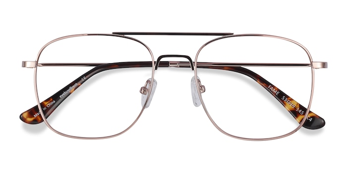 Rose Gold Fame -  Classic Metal Eyeglasses