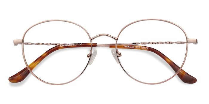 Rose Gold Twirl -  Lightweight Metal Eyeglasses