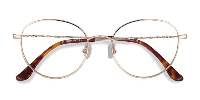 Golden Twirl -  Metal Eyeglasses