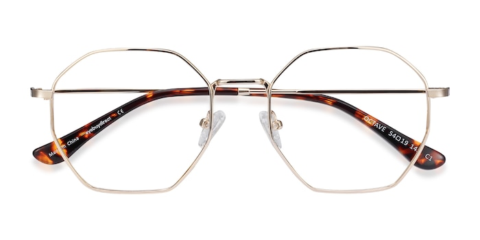 Golden Octave -  Lightweight Metal Eyeglasses