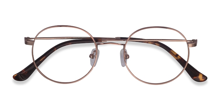 Rose Gold Streetwise -  Metal Eyeglasses