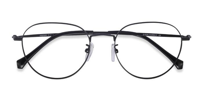 Black Inspire -  Metal Eyeglasses