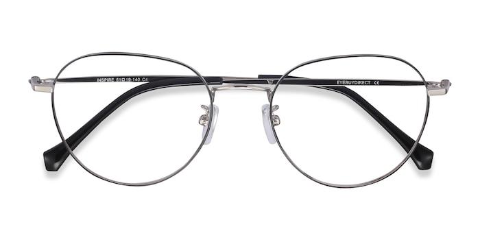 Black Silver Inspire -  Metal Eyeglasses
