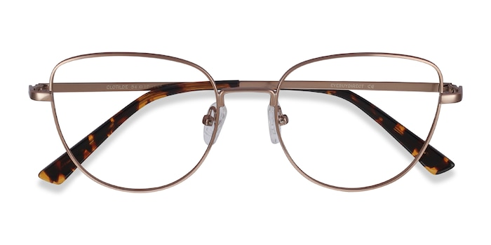 Rose Gold Clotilde -  Metal Eyeglasses