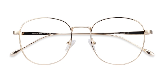 Gold Vantage -  Lightweight Metal Eyeglasses