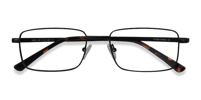 Black Arco -  Metal Eyeglasses