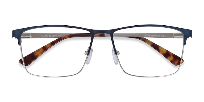 Navy Edito -  Metal Eyeglasses