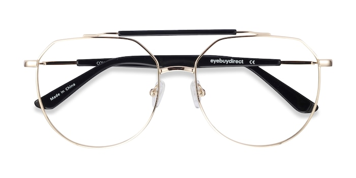 Golden Black Coxon -  Fashion Metal Eyeglasses