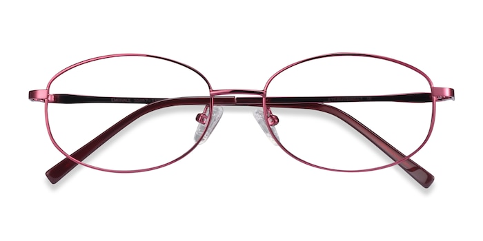 Burgundy Embrace -  Colorful Metal Eyeglasses