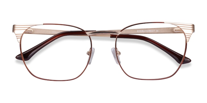 Brown Golden Soulist -  Metal Eyeglasses