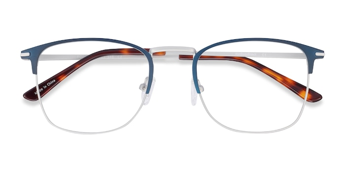 Navy Poppy -  Metal Eyeglasses