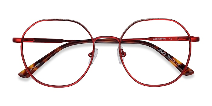 Red Sylvie -  Metal Eyeglasses