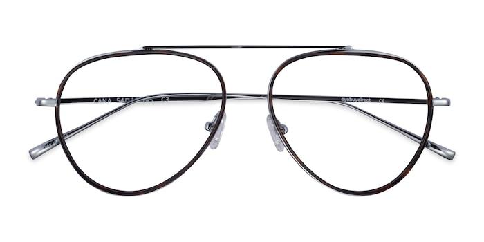 Tortoise  Silver Cana -  Vintage Metal Eyeglasses
