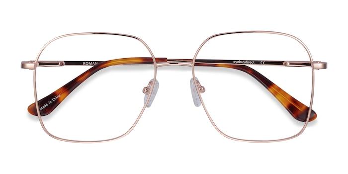 Rose Gold Roman -  Lightweight Metal Eyeglasses