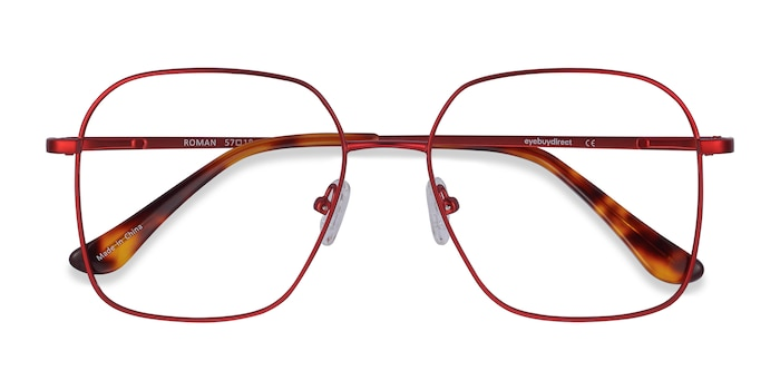 Red Roman -  Lightweight Metal Eyeglasses