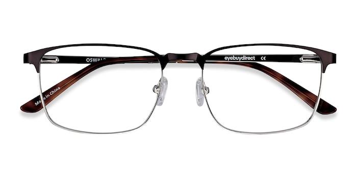 Matte Black Oswald -  Classic Metal Eyeglasses