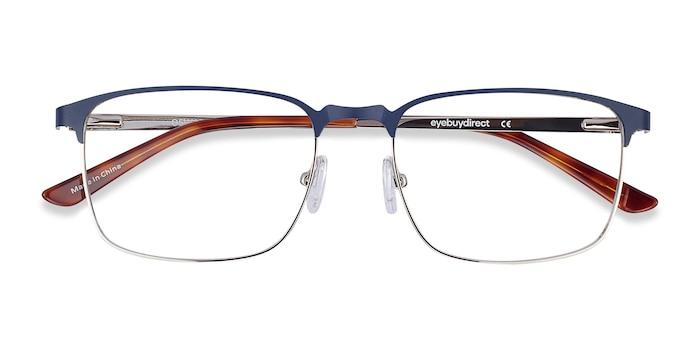 Navy Oswald -  Classic Metal Eyeglasses