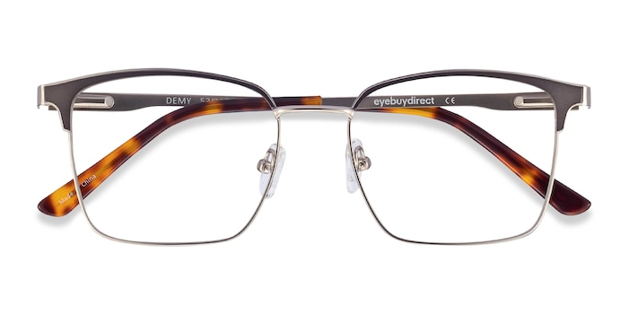 Silver & Black Demy -  Metal Eyeglasses