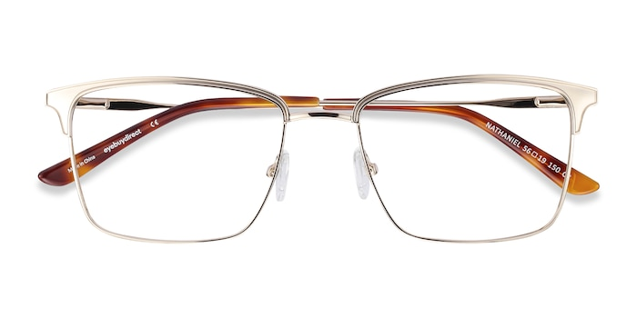 Gold Nathaniel -  Metal Eyeglasses